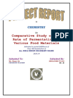 Comparative Study of the Rate of Fermentation of Various Food Materials