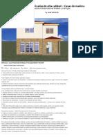 Casa prefabricada de madera y hormigón Madrid 115,20 m² Precio80.691,64 € IVA incluido