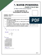 Examen Mensual de Rm -Beta