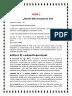 Tarea 1 Educacion Para La Paz de Minely