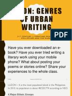 Luzon_Genres of Urban Writing