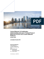 Carrier Ethernet 2.0 Certification Understanding and Layer 2 Control Protocol Behaviour Across Cisco Carrier Ethernet Platforms