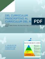 Del Curriculum Prescriptivo Al Curriculum Del Aula