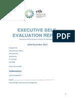 Executive Self Evaluation