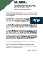 Acta de Verificación y Cuantificación de La Eliminación Del Material Excedente de La Demolición de Veredas de Las Dos Cuadas Del Jr