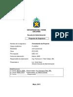 Formulacion de Proyectos Mayo 2013
