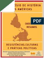 Caderno de resumos Simpósio de História das Américas - Resistência, Cultura e Práticas Políticas