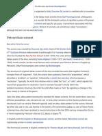 Sonnet - Wikipedia, The Free Encyclopedia