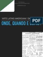 Arte latino americana em Portugal