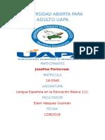 TAREA 6 DE LENGUA ESPAÑOLA EN LA EDUCACION BASICA 3....JOSEFINA..docx