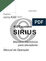 Dt1580904 - Sirius - Manual k40 - r1 - Pt