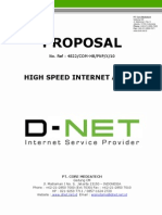D-NET Proposal Internet Access Dedicated Line Service 2010 (Wisnu Utomo)