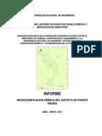 Informe Microzonificacion Sismica Puentepiedra