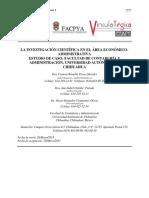 1. La Investigación Científica en El Área Económico-Administrativa
