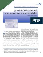 1. La Investigación Científica Como Fuente Para La Sustentabilidad
