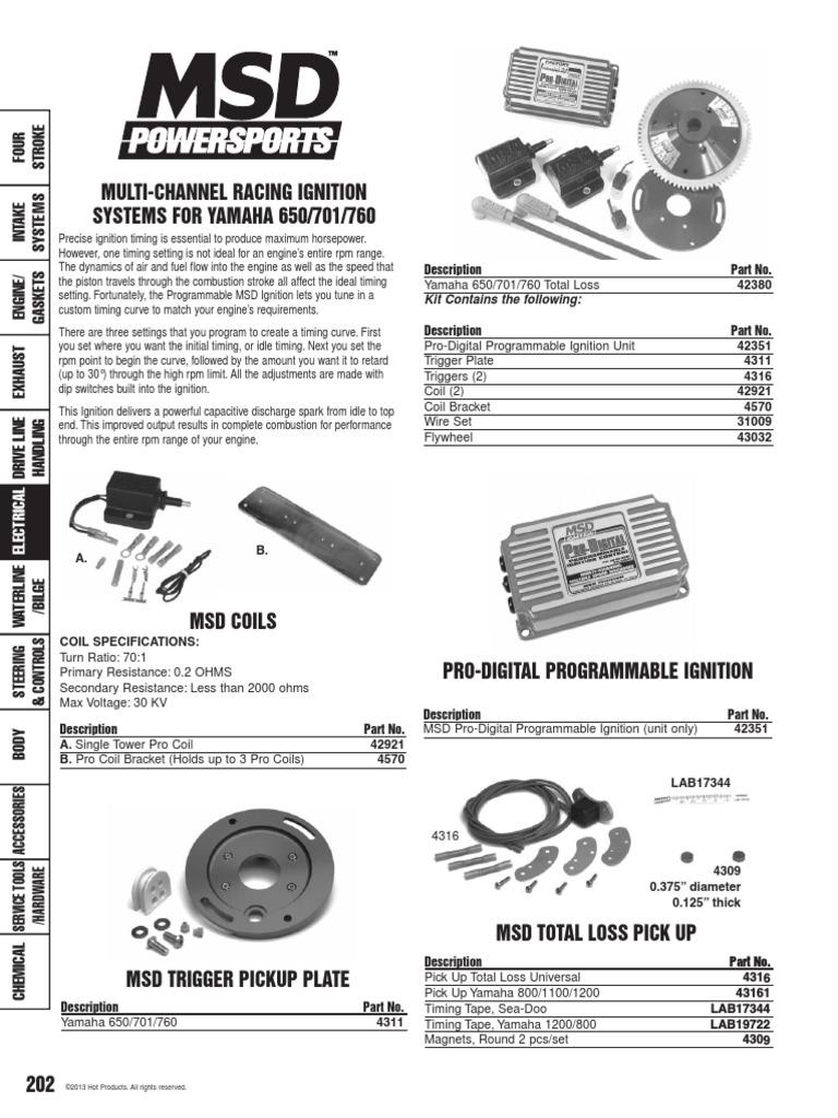 Kawasaki 900 1100 Ignition Coil 26 inch 21121-3710 STS STX ZXi