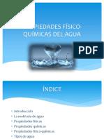 Agua propiedades físico-químicas
