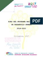 Ejes Del Programa Nacional de Desarrollo Humano