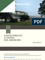 Presentación U10 Costeo Directo y Por Absorción