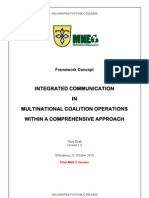 Integrated Communication in Multinational Coalition Operations within a Comprehensive Approach