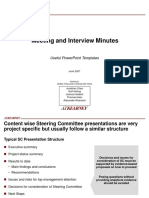Meeting and Interview Minutes