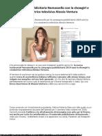 Ventura Testimonial Nomasvello Per La Campagna Pubblicitaria 2019