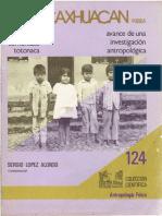 Condiciones de vida de una comunidad totonaca, Caxhuacan - 1982