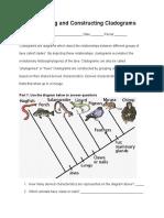 interpreting and constructing cladograms lab