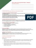 Informe Del Area de Educacion Para El Trabajo.