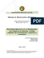 460f097b60 2018 - 2019 - Programa Analítico - Ley de Aduanas