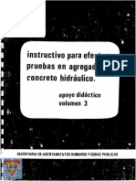 Instructivo Para Efectuar Pruebas en Agregados y Concreto Web