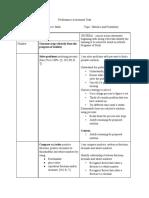 performance task - portfolio