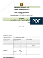 2018 - 2019 - Silabo Loeps