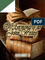 Sermonário de Tratado John Wesley Vol.3