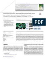 Incineration and pyrolysis vs. steam gasification of electronic waste