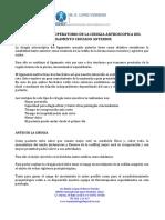 Protocolo Perioperatorio de La Cirugia Del Ligamento Cruzado Anterior Web