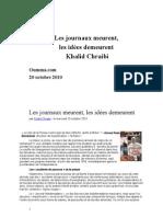 Khalid Chraibi Les Journaux meurent, les idées demeurent