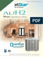 Adh2 14 SEER • High Efficiency • R410a