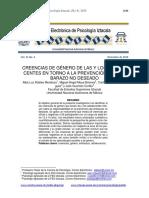Creencias de Género de Las y Los Adolescentes en Torno a La Prevención Del Embarazo No Deseado.