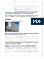Air Pollution is the Introduction of Chemicals