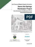 Draft study on Sierra Hot Springs project