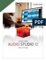 instrucciones en portugues de Sony Sound Forge