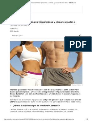 abdominales hipopresivos ejercicios rutinas pdf
