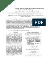 Diseño e Implementación de Un Preamplificador Para Sistemas de Resonancia Magneětica Nuclear de Bajo Campo
