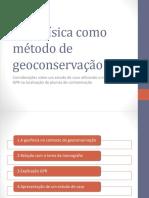 A geofísica como método de geoconservação