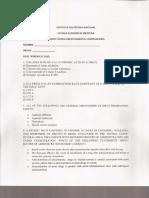 Estructura del examen de Farma ESM IPN