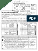 Bendix EC-60 ABS Controller Checklist