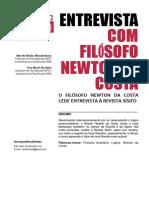 Entrevista com filósofo Newton da Costa
