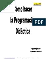 Como hacer programación didáctica