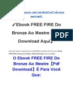 ✓Ebook FREE FIRE Do Bronze Ao Mestre【Pdf Download Aqui】.